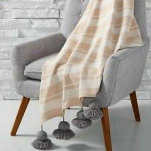"""Martha Stewart Throw Blanket Cotton 50"""" x 60"""" NWOT"""